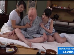 Steamy Grandpa With Two Teen Sluts