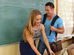 Horny guy fucked his sexy teacher