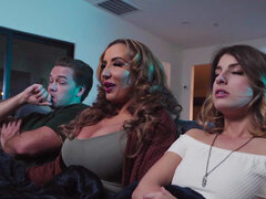 Richelle Ryan joins her stepson & his gf Kristen Scott for a threesome