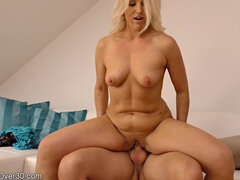 Hot mommy Evelina rides whopping dick