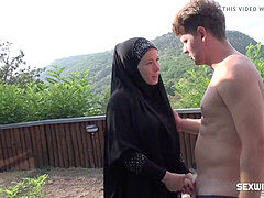 CZECH MUSLIM MAID LICKY LEX satiates HER manager