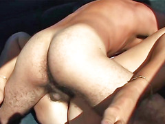 Suave blonde hoe enjoys having kinky hardcore sex in a car