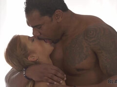 BLACK4K. Nice white chick Chrissy Fox meets her future