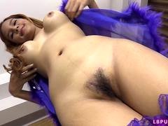 18-19 year old Post-Op Tranny Aum Fucked Bareback