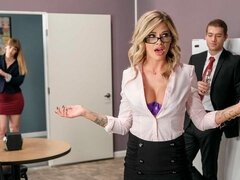 Spicy mademoiselle with massive melons Jessa Rhodes likes sex
