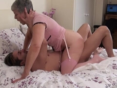 British Big-Titted Granny fucked