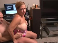 Big ass mature anally doggy fucked by a camera man in amateur POV