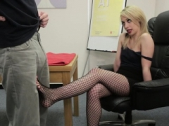 Footfucked cfnm amateur