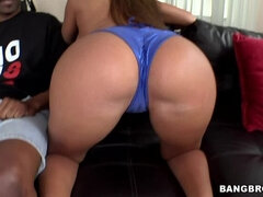 She fucks a huge black dick