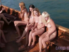 Nudist boat cruise of young girls from Russia