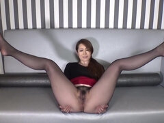 Asian babe hot pantyhose fetish solo