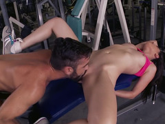 Working out and fucking hard with Casey Calvert
