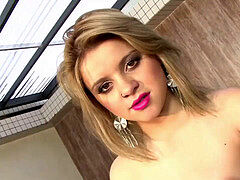 HotGold lovely Portuguese girl loves a enormous man meat