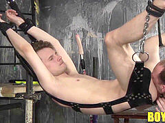 Kamyk Walker strapped up and arse drilled by master Sean Taylor
