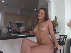 Dani Daniels bounces her booty on a tick dick & begs for a mouthful of cum
