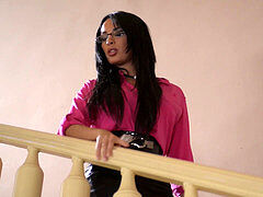 Hot manager Anissa Kate gets her Milf honeypot filled with big dark-hued veiny dick