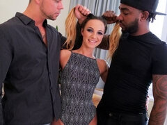 Gaping Kristy: Interracial DP & Facial