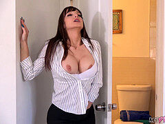 super-fucking-hot mom Finds Young Stud Stepson's Condoms And flashes Him How