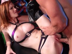 Hot as hell redhead Dee Dee Lynn fucked in sexy leather boots