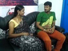 seductive aunty in sleeveless blouse enticing young man hot