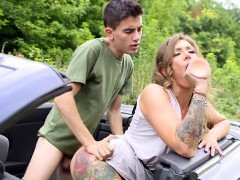 Cougar Ava Austen Gets Bent Over By Bigcocked Hitchhiker