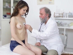 Kinky Old Doctor Examination - timea bella