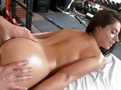 HOLED Gym interrupted backdoor dripping creampie for Jynx Maze