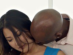 BLACKED Far eastern Girl Jade Luv Screams on Hefty Black Dick