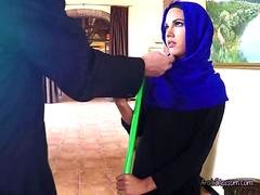 Beautiful Arab Maid Apolonia Blows Hung Boss