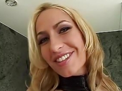 Fabulous pornstar Sophie Evans in incredible cumshot on face, blonde p