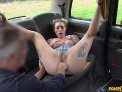 Fake Taxi (FakeHub): Ava releases her hairy bush