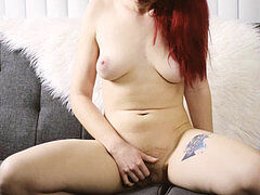 sandy-haired Dildo riding And squirting