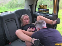 Blondes tight holes fucked in cab