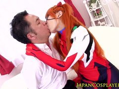 Cocksucking cosplay nippon creampied in snatch