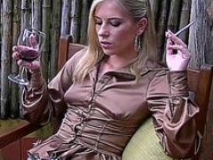 Mischievous leony aprill is jacking off