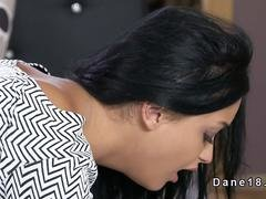Dark haired beauty gets rimjob and furthermore have an intercourse