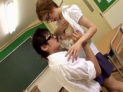 Japanese professor breastfeeds college girl and gets romped