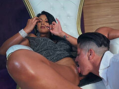 Juicy latina Mariana Martix lets a guy play with her tight asshole