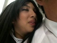 Asiatic Hot Handjob in Bus