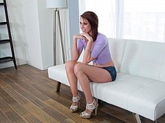 Casting couch show with a lustful chick