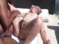 unshaved 68 years mature granny number one interracial porn