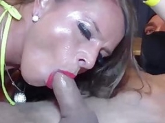 Newbie nympho MILF dicked by multiple fellas before cumshot on face