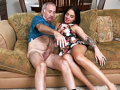Aria Rose Gives head to Grandpa
