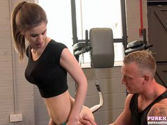 PURE Fully hardcore FILMS Stunning Stella Cox banged at the gym