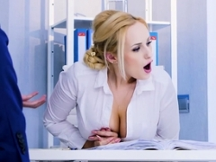 Hot secretary and furthermore co worker thressome bangs Steven