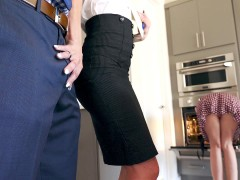 Synthia Fixx seducing Johnny Castle behind his wife's back