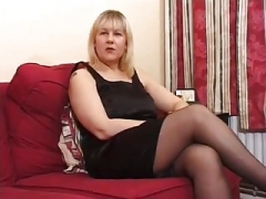 Melons Old UK Blonde Does Anal