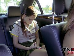 Teenager Brooke Haze sucks stepdads schlong while mummy drives unsuspicious