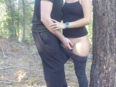 Amateur Porn Girlfriend Humped In The Woods