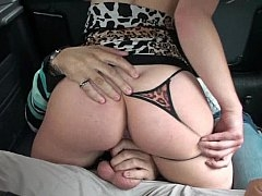 Sizeable ass gal rides a big dick in a car